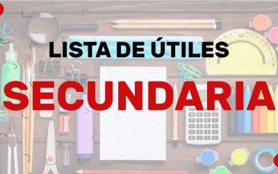 LISTAS ESCOLARES SECUNDARIA 2021-2022